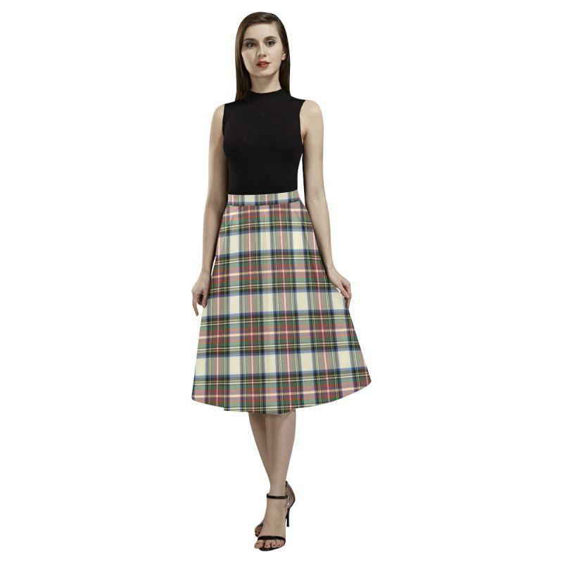 Stewart Dress Ancient Tartan Aoede Crepe Skirt