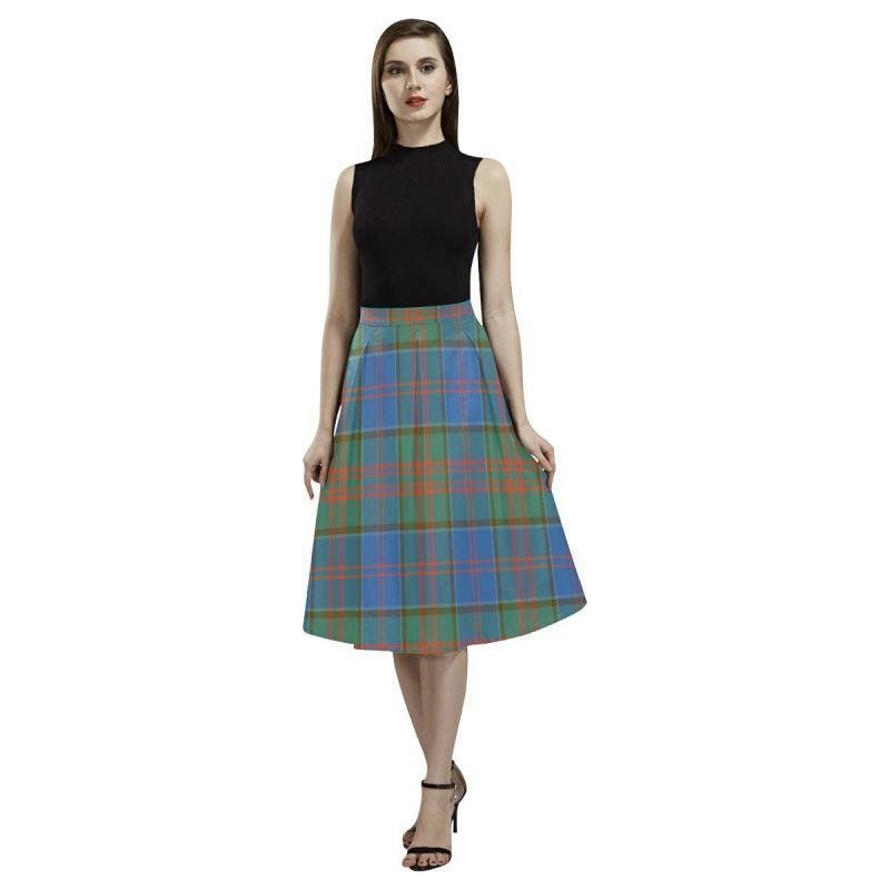 Stewart Of Appin Hunting Ancient Tartan Aoede Crepe Skirt