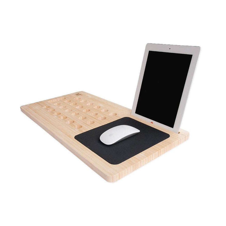 Portable Laptop Desk Built-in Mouse Pad Phone Tablet Holder Laptops Stand Trays