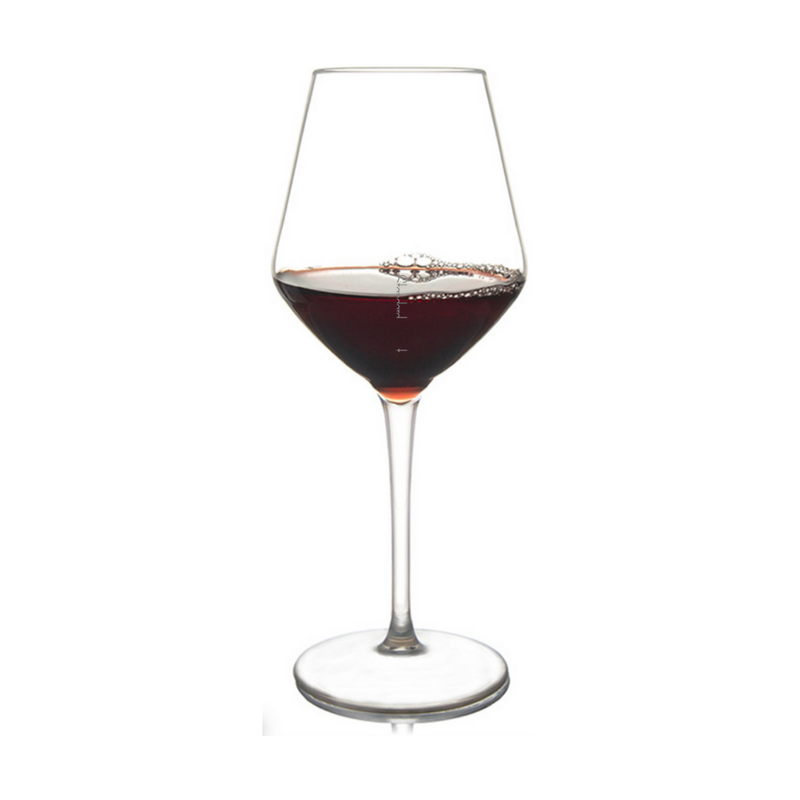 Shatterproof Viva La Vino Wine Glass With Pour Lines - Set of 4