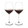 (NQR) Shatterproof Viva La Vino Wine Glass With Pour Lines - Set of 4 (NQR)