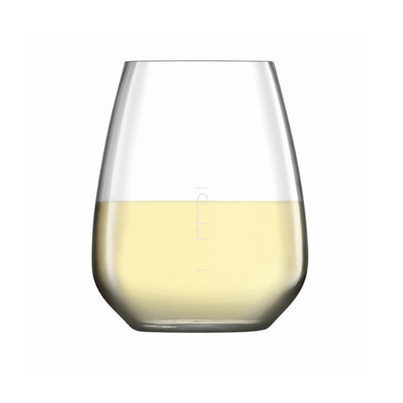 Crystal stemless wine glass, Set of 6