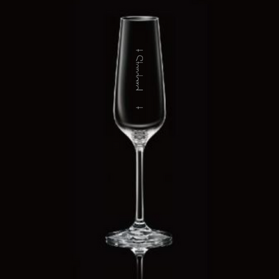 Crystal Champagne Flute With Pour Lines - Set of 4