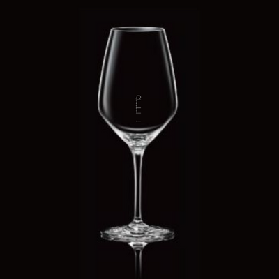 Crystal Large Wine Glass Set of 4, with pour lines