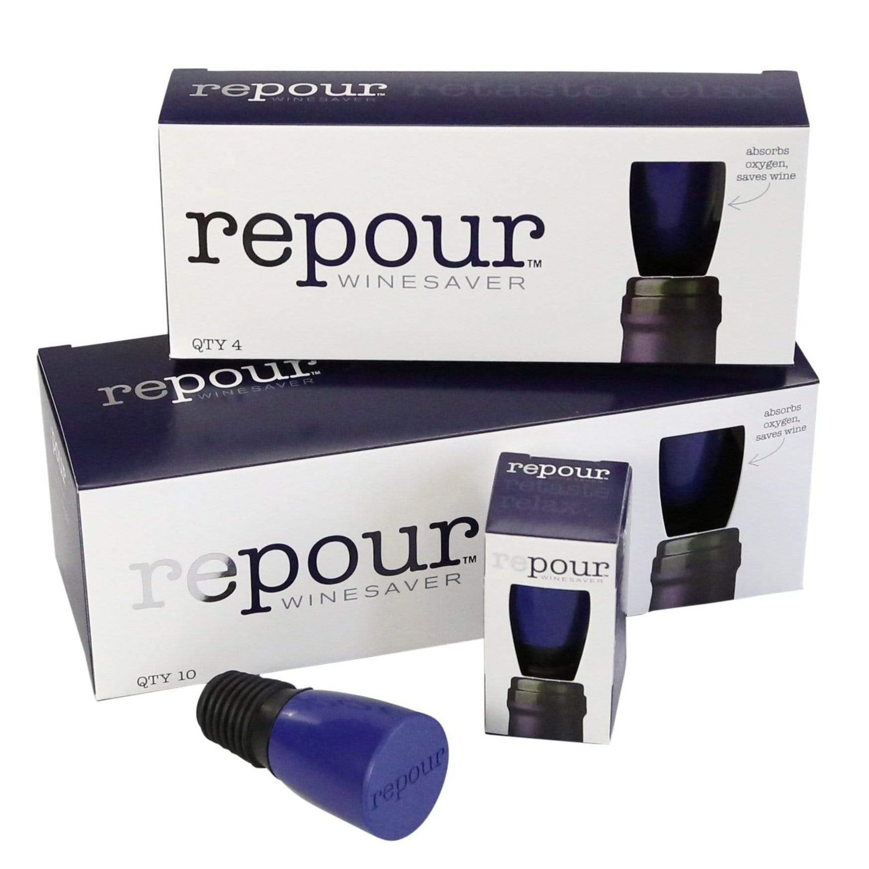 Wine Saver Stopper by Repour - Keep Wine Fresh