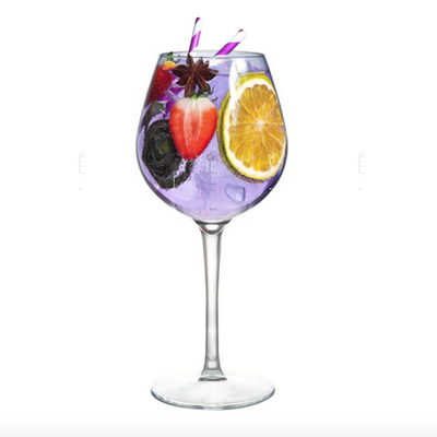 Shatterproof Gin Goblet Glass With Pour Lines - Duo-Pack