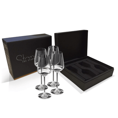 The Standard Drink Company Wine Glass Premium Gift Set Universal Crystal Wine Glass - Gift Box Set of 4