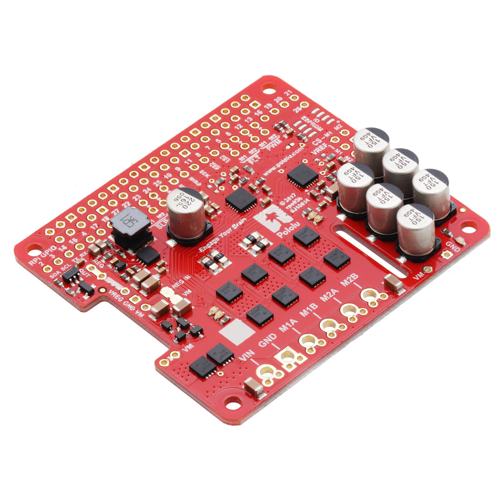 A product image of Pololu Dual G2 High-Power Motor Driver for Raspberry Pi