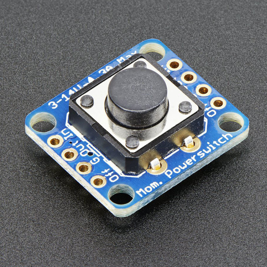 A product image of Adafruit Push-button Power Switch Breakout