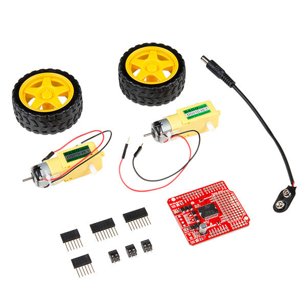 A product image of SparkFun Ardumoto Shield Kit