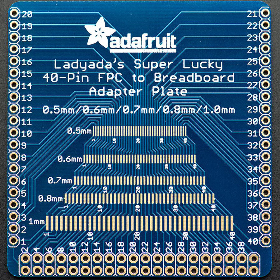 A product image of Adafruit Multi-pitch FPC Adapter - 40 Pin 0.5/0.6/0.7/0.8/1.0mm