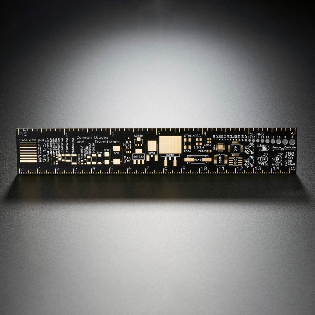 A product image of Adafruit PCB Ruler v2 - 6