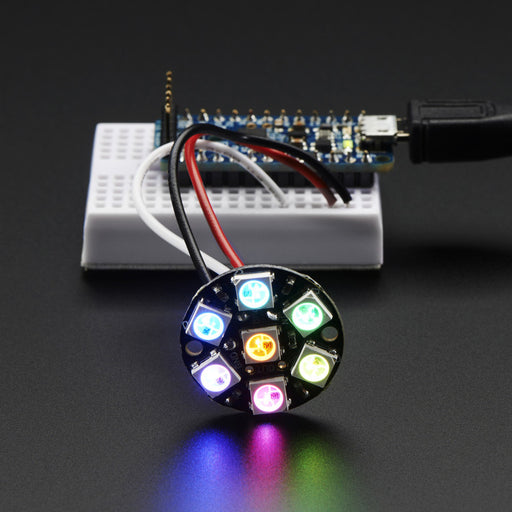 A product image of Adafruit NeoPixel Jewel - 7 x WS2812 5050 RGB LED with Integrated Drivers