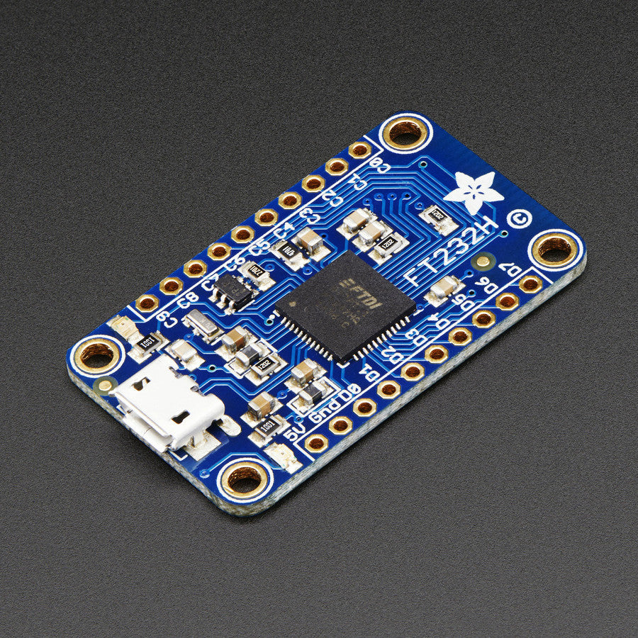 A product image of Adafruit FT232H Breakout - General Purpose USB to GPIO+SPI+I2C