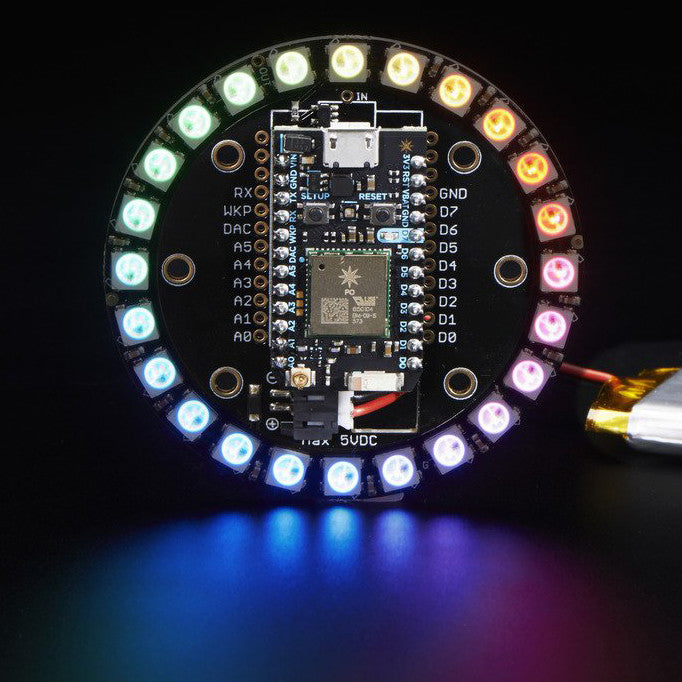A product image of Adafruit Particle NeoPixel Ring Kit - 24 NeoPixels