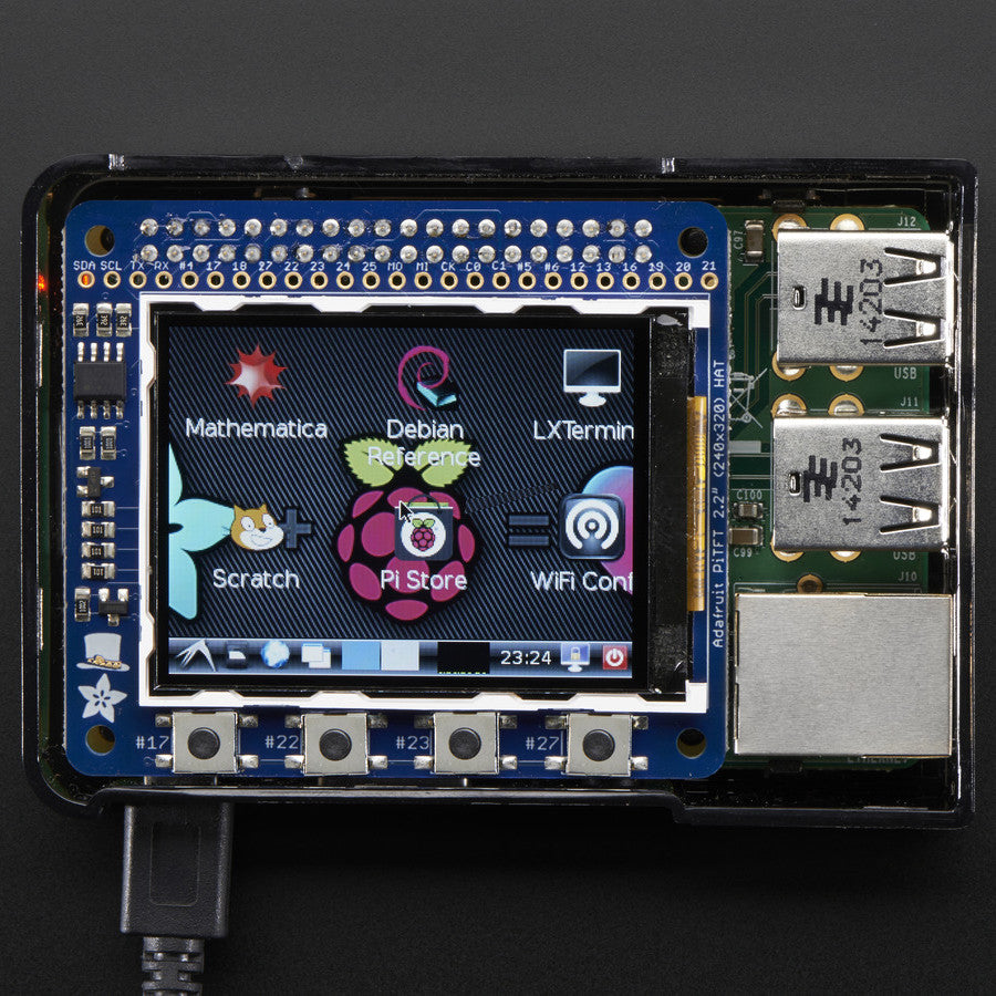 A product image of Adafruit PiTFT 2.2