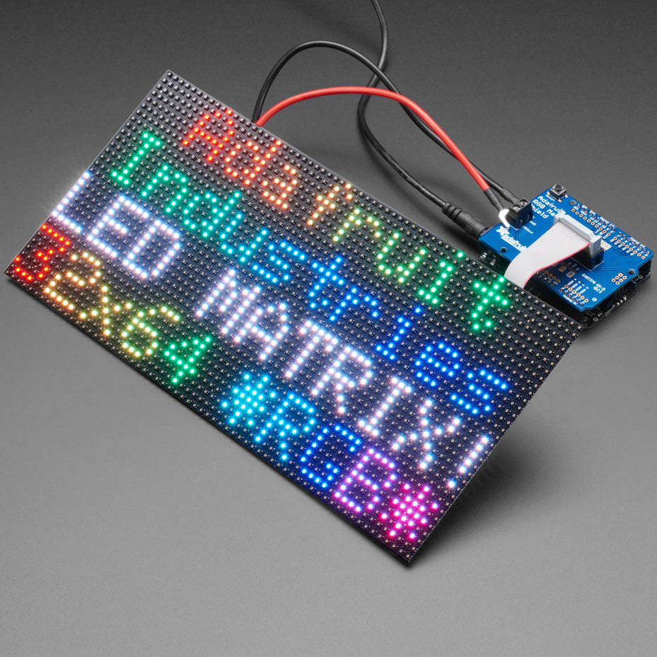 A product image of Adafruit RGB Matrix Shield for Arduino