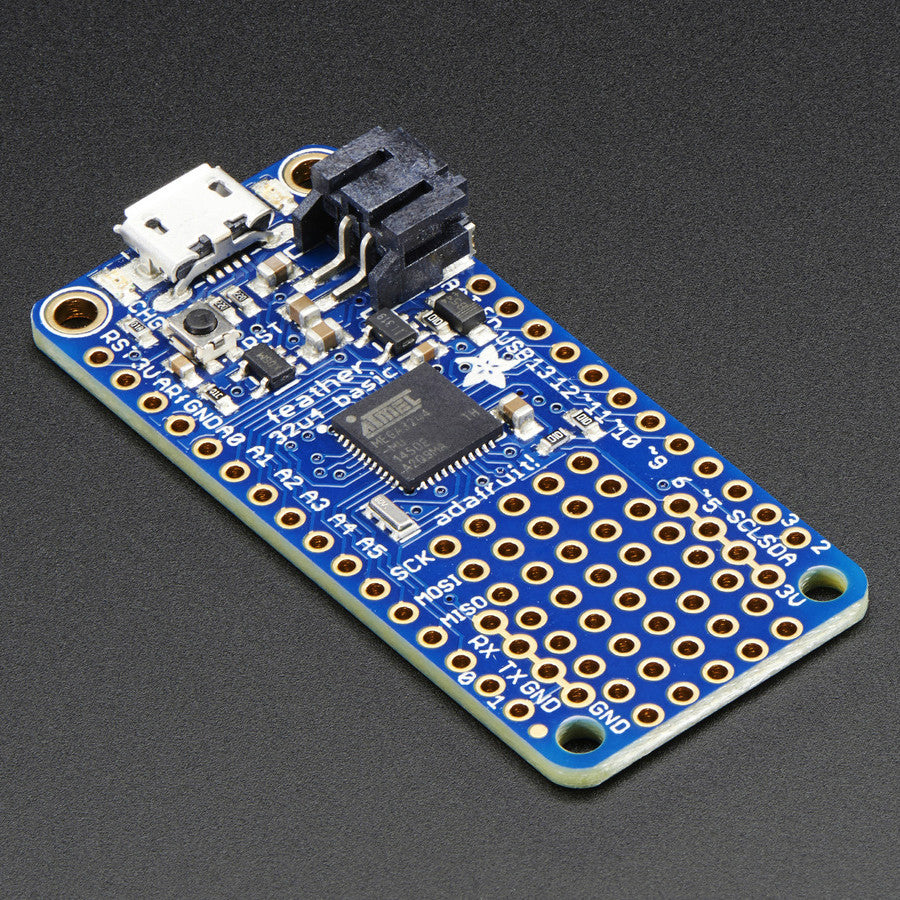A product image of Adafruit Feather 32u4 Basic Proto