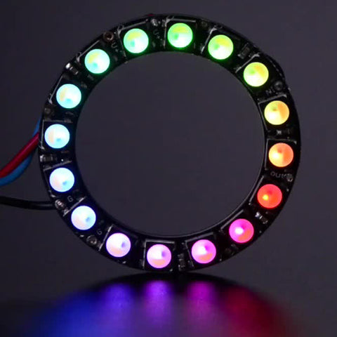 NeoPixel Ring - 16 x 5050 RGBW LEDs w/ Integrated Drivers