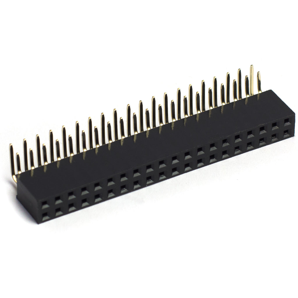 Female 40-pin 2x20 right-angle HAT header