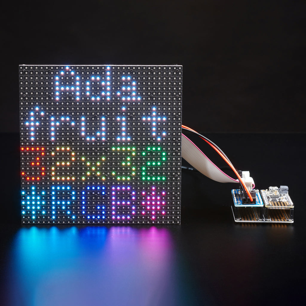A product image of Adafruit RGB Matrix Featherwing Kit - For M0 and M4 Feathers