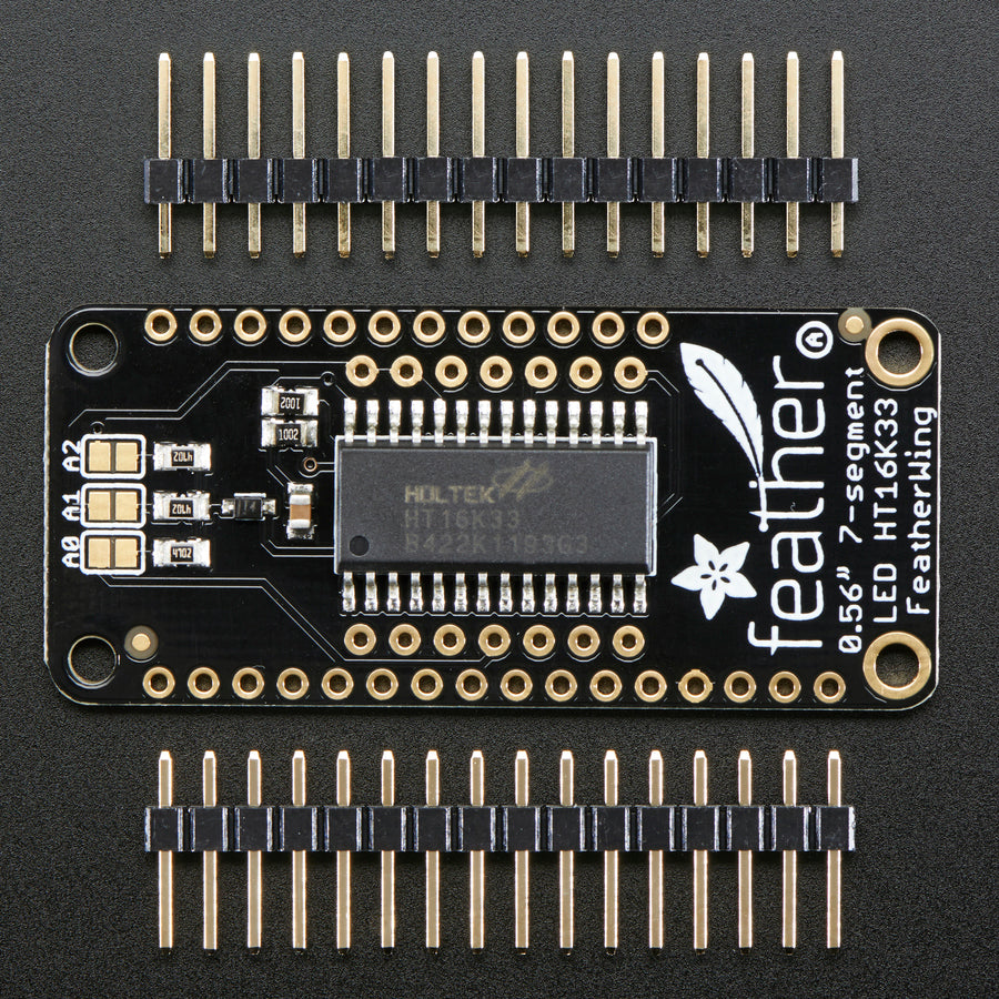 A product image of Adafruit 4-Digit 7-Segment LED Matrix Display FeatherWing