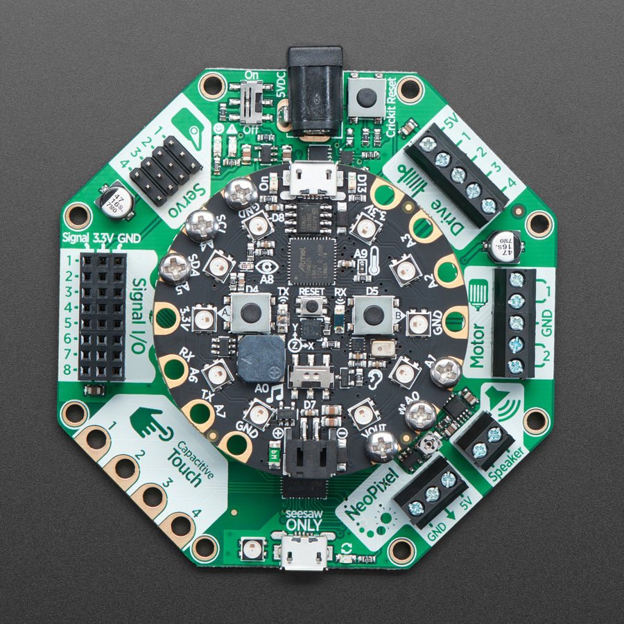 A product image of Adafruit CRICKIT for Circuit Playground Express