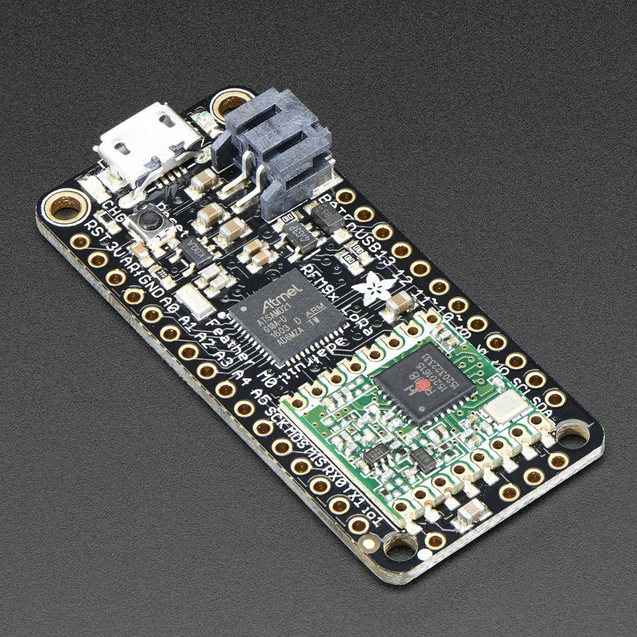 A product image of Adafruit Feather M0 RFM96 LoRa Radio - 433MHz