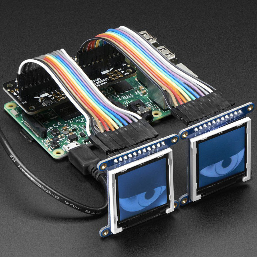 A product image of Adafruit Animated Eyes Bonnet for Raspberry Pi Mini Kit - Without Displays