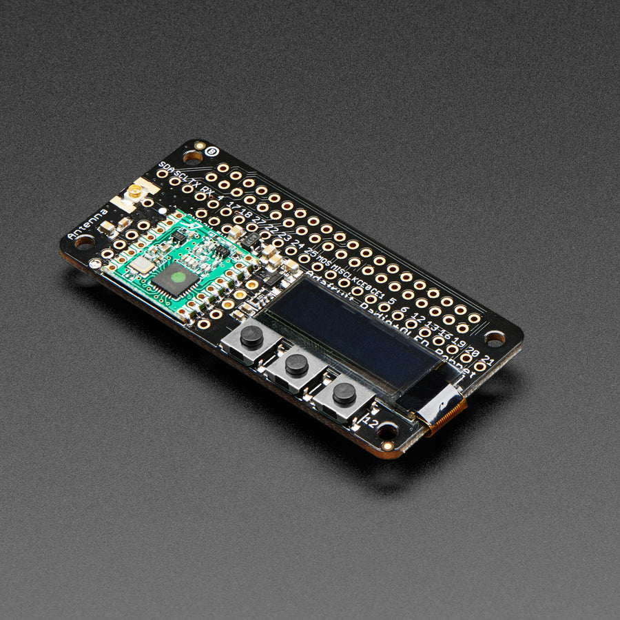 A product image of Adafruit RFM69HCW Transceiver Radio Bonnet - 868 or 915 MHz - RadioFruit