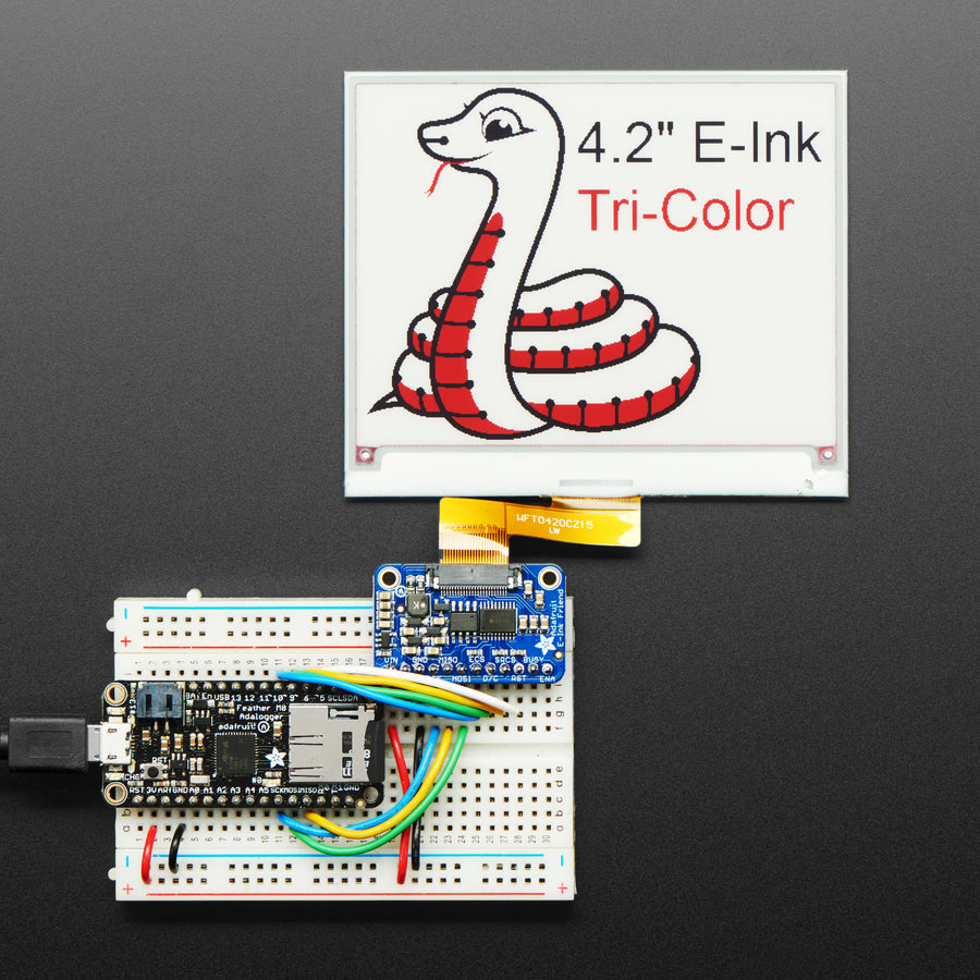 A product image of Adafruit eInk Breakout Friend with 32KB SRAM