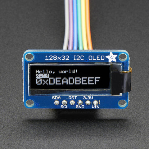 Adafruit Monochrome 128x32 I2C OLED graphic display