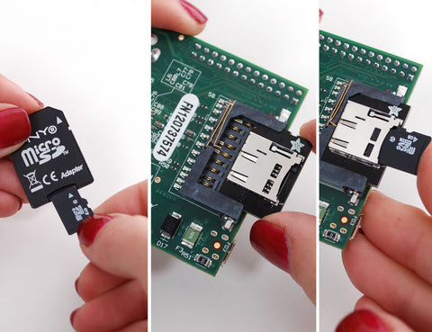 Adafruit Low-profile microSD card adapter for Raspberry Pi