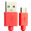 A product image of USB A to microB cable - Red