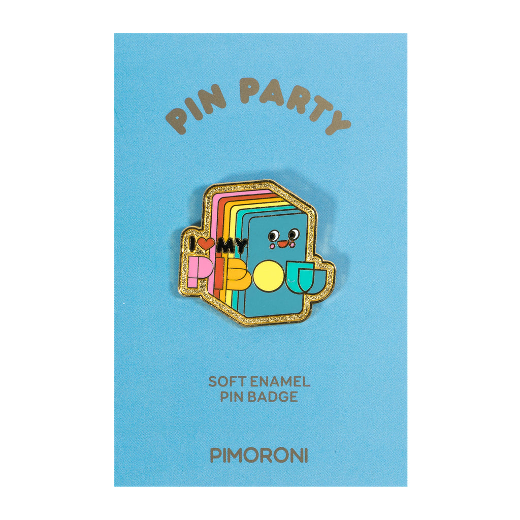 A product image of Pimoroni Pin Party Enamel Pin Badge