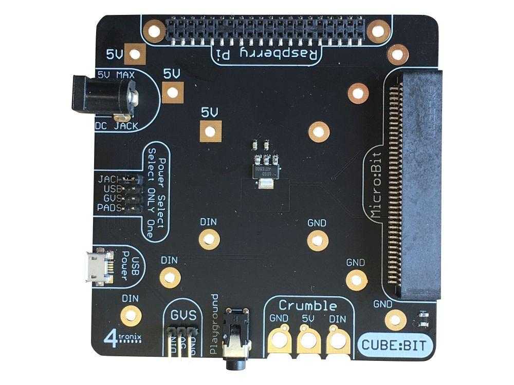 A product image of Cube:Bit Base for Power, Microbit and Raspberry Pi