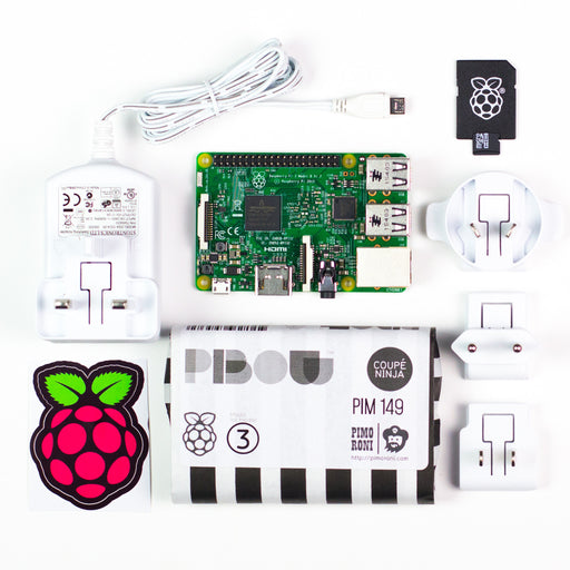 A product image of Raspberry Pi 3 Essentials Kit