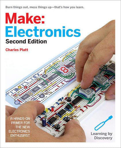 A product image of Make: Electronics, 2nd Edition