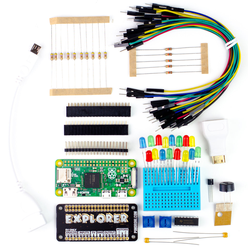 Explorer Phat Electronics Kit Pi Zero Project Kits Pimoroni Simple Electrical Projects Library A Product Image Of