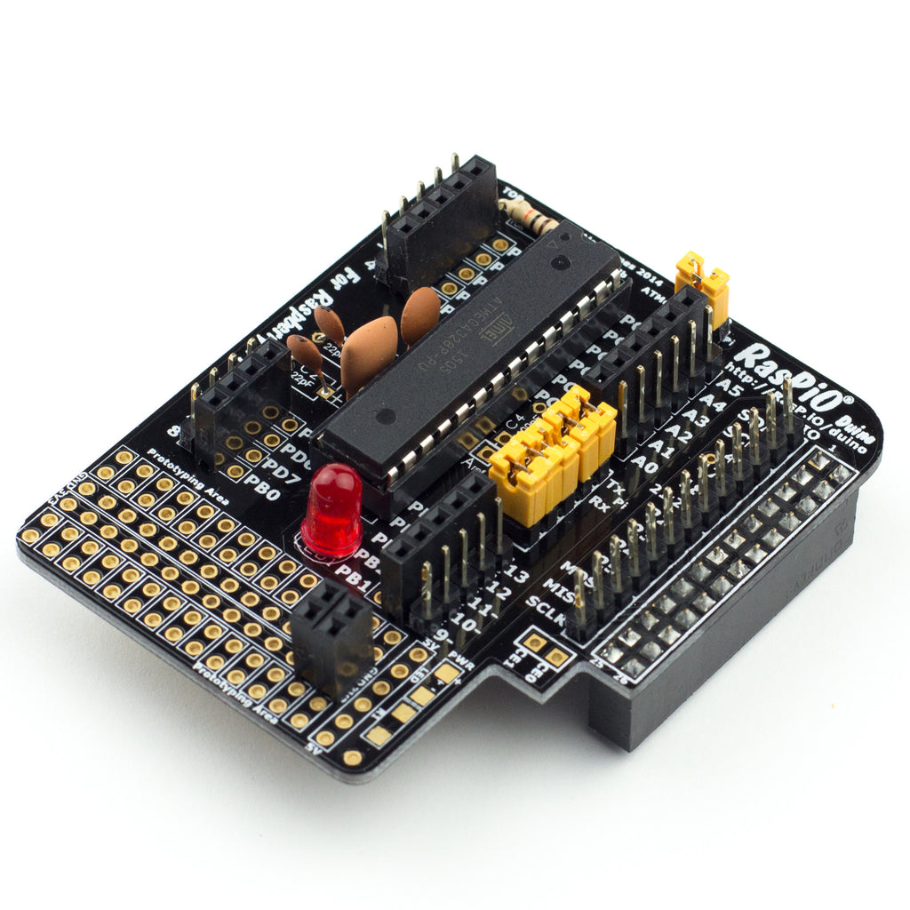 A product image of RasPiO® Duino