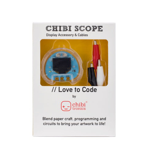 A product image of Chibitronics Love to Code: Chibi Scope & Alligator Clips