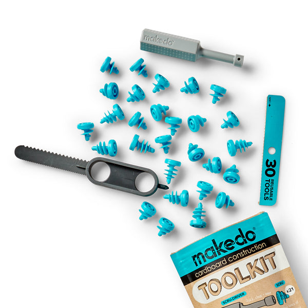 A product image of MAKEDO Cardboard Construction Toolkit
