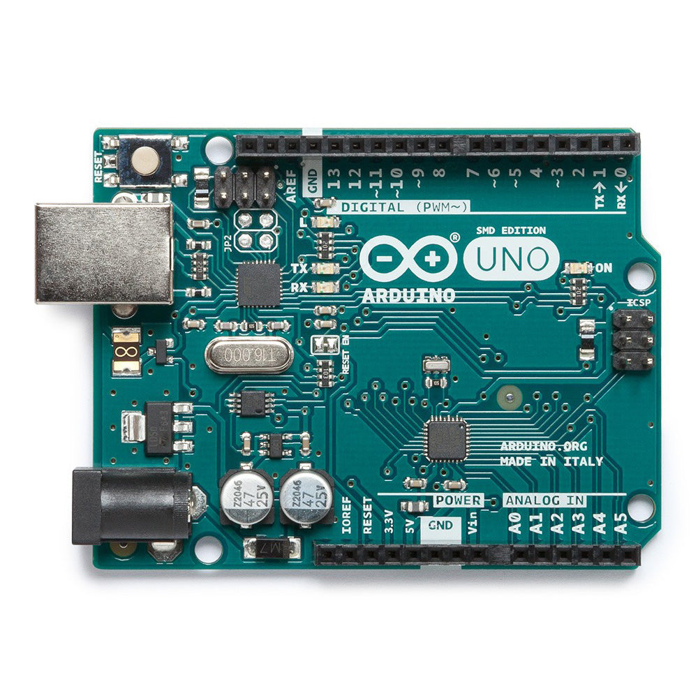 A product image of Arduino Uno Rev3