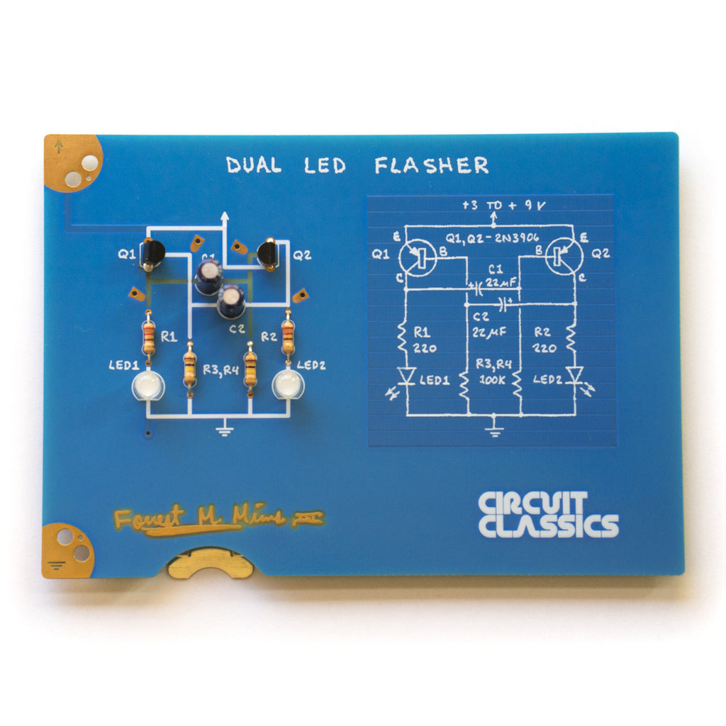 Schematic And Wiring Diagram Of Two Led Circuits Built On The Board Of