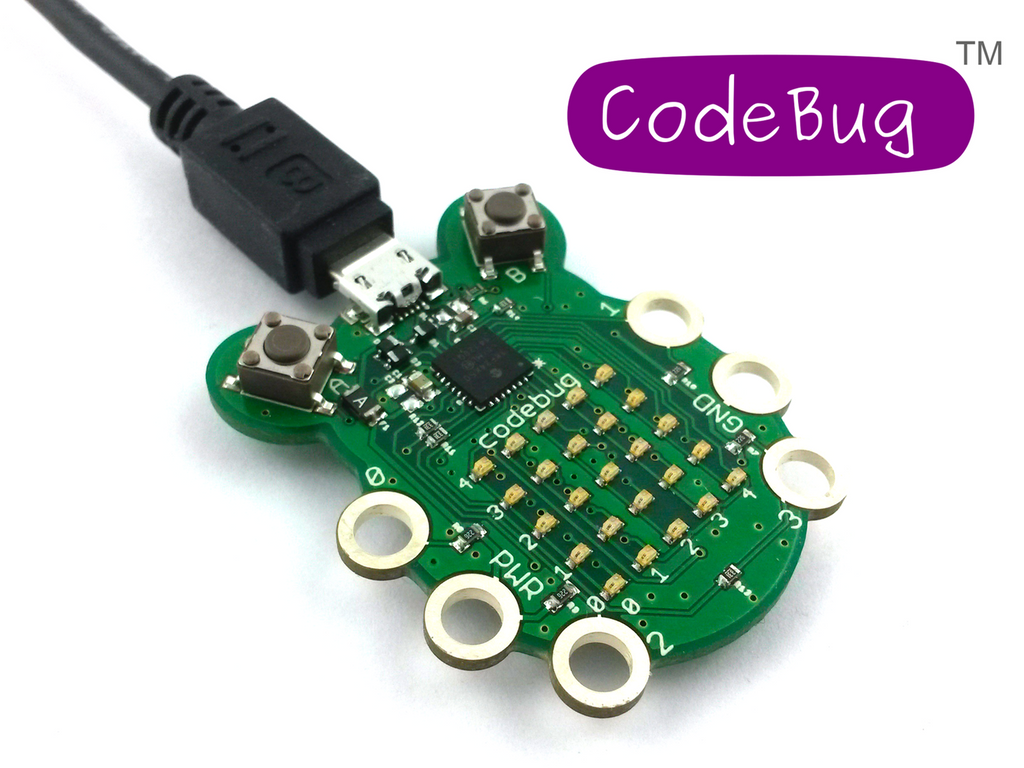 A product image of CodeBug