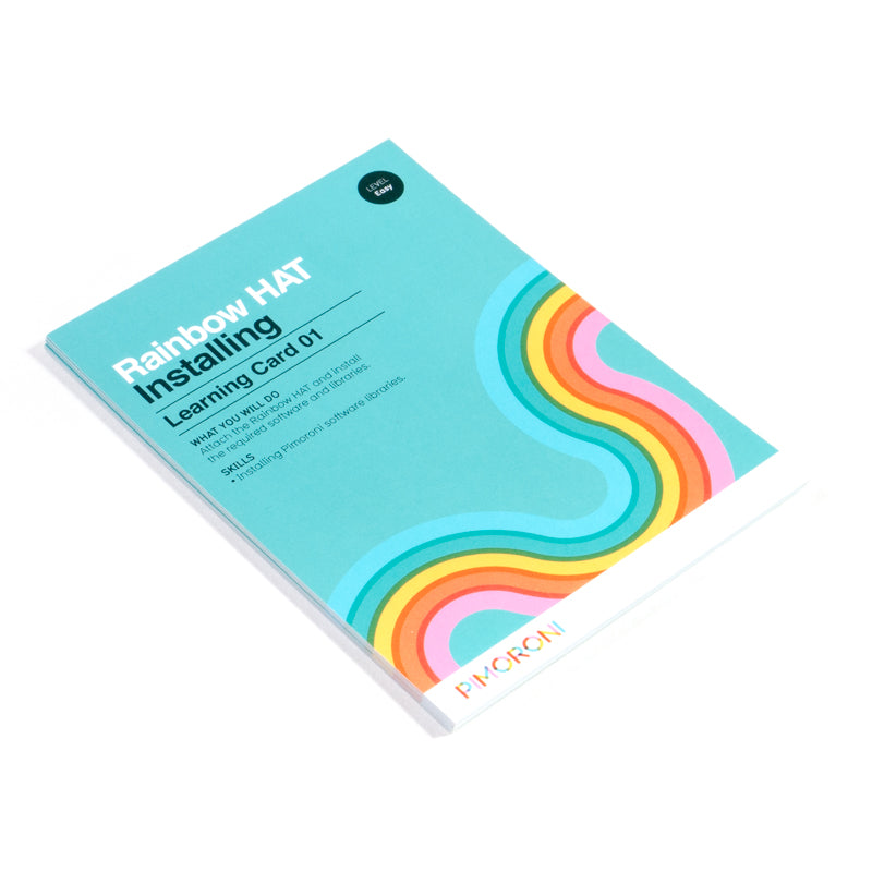 Rainbow HAT Learning Cards (Python)