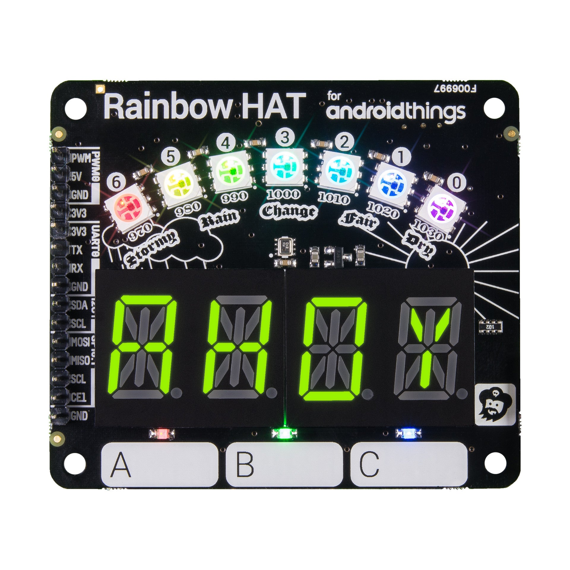 getting started with rainbow hat in python pimoroni yarr niversity