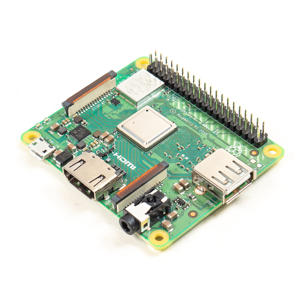 A product image of Raspberry Pi 3 A+