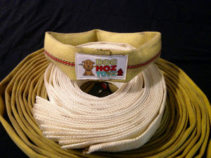 Tugger's Ring toy built with forestry fire hose - Doghoztoyz
