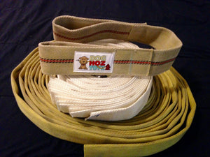 Tugger's Tug built with forestry fire hose, with squeakers - Doghoztoyz